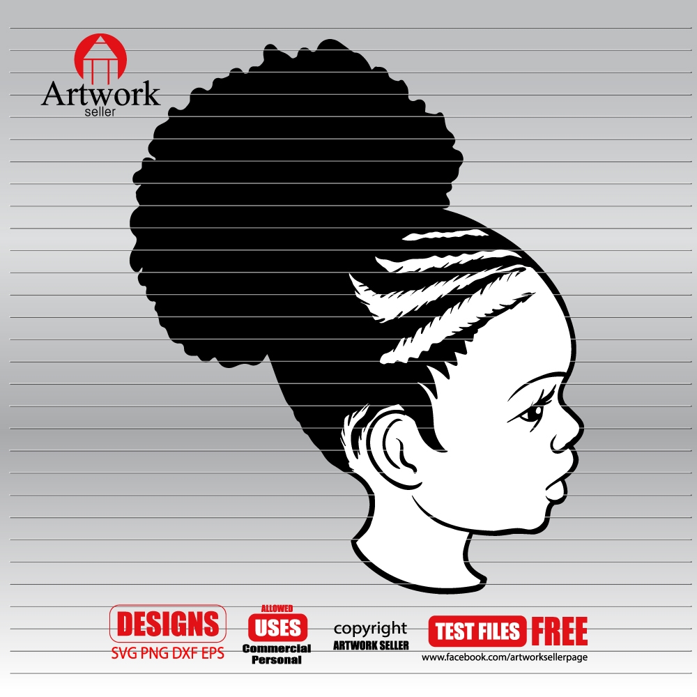 afro baby svg